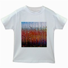 Glass Colorful Abstract Background Kids White T Shirts