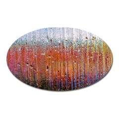 Glass Colorful Abstract Background Oval Magnet