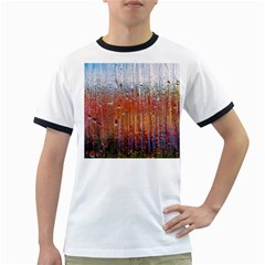 Glass Colorful Abstract Background Ringer T Shirts