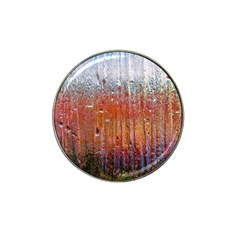 Glass Colorful Abstract Background Hat Clip Ball Marker (4 Pack)