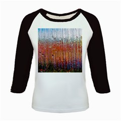 Glass Colorful Abstract Background Kids Baseball Jerseys
