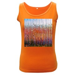 Glass Colorful Abstract Background Women s Dark Tank Top