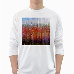 Glass Colorful Abstract Background White Long Sleeve T Shirts
