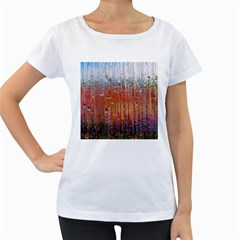 Glass Colorful Abstract Background Women s Loose Fit T Shirt (white)