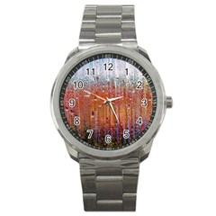 Glass Colorful Abstract Background Sport Metal Watch