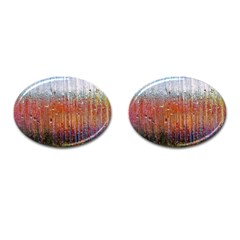 Glass Colorful Abstract Background Cufflinks (oval)