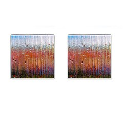 Glass Colorful Abstract Background Cufflinks (square)