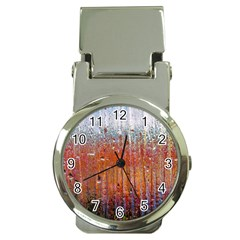 Glass Colorful Abstract Background Money Clip Watches