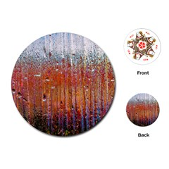 Glass Colorful Abstract Background Playing Cards (round)
