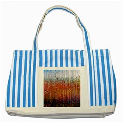 Glass Colorful Abstract Background Striped Blue Tote Bag