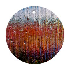 Glass Colorful Abstract Background Round Ornament (two Sides)