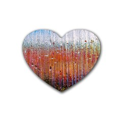 Glass Colorful Abstract Background Heart Coaster (4 Pack)