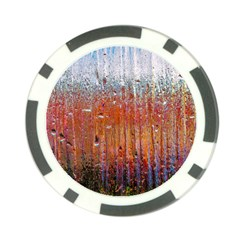 Glass Colorful Abstract Background Poker Chip Card Guard