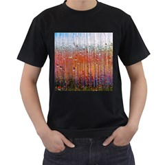 Glass Colorful Abstract Background Men s T Shirt (black)