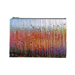 Glass Colorful Abstract Background Cosmetic Bag (large)
