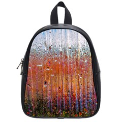 Glass Colorful Abstract Background School Bag (small)