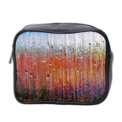 Glass Colorful Abstract Background Mini Toiletries Bag 2 Side