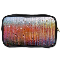 Glass Colorful Abstract Background Toiletries Bags 2 Side