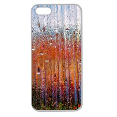 Glass Colorful Abstract Background Apple Seamless Iphone 5 Case (clear)