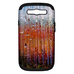 Glass Colorful Abstract Background Samsung Galaxy S Iii Hardshell Case (pc+silicone)
