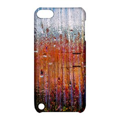 Glass Colorful Abstract Background Apple Ipod Touch 5 Hardshell Case With Stand