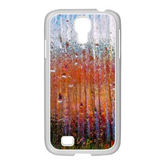 Glass Colorful Abstract Background Samsung Galaxy S4 I9500/ I9505 Case (white)