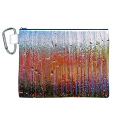 Glass Colorful Abstract Background Canvas Cosmetic Bag (xl)