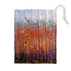 Glass Colorful Abstract Background Drawstring Pouches (extra Large)