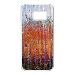 Glass Colorful Abstract Background Samsung Galaxy S7 White Seamless Case
