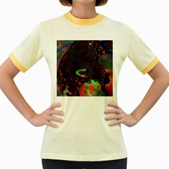 The Fourth Dimension Fractal Women s Fitted Ringer T Shirts