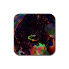 The Fourth Dimension Fractal Rubber Coaster (square)