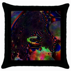 The Fourth Dimension Fractal Throw Pillow Case (black)