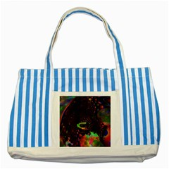 The Fourth Dimension Fractal Striped Blue Tote Bag