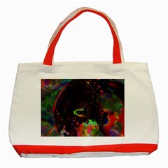 The Fourth Dimension Fractal Classic Tote Bag (red)
