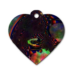 The Fourth Dimension Fractal Dog Tag Heart (one Side)