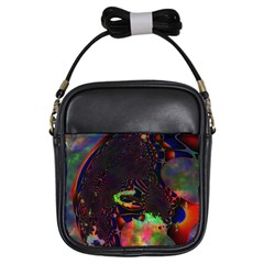 The Fourth Dimension Fractal Girls Sling Bags