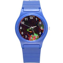 The Fourth Dimension Fractal Round Plastic Sport Watch (s)