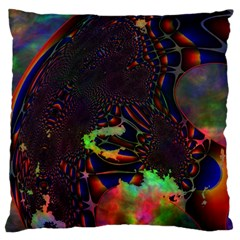 The Fourth Dimension Fractal Large Flano Cushion Case (one Side)