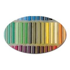 Pastels Cretaceous About Color Oval Magnet