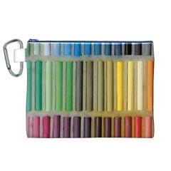 Pastels Cretaceous About Color Canvas Cosmetic Bag (xl)