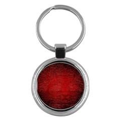 Red Grunge Texture Black Gradient Key Chains (round)