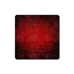Red Grunge Texture Black Gradient Square Magnet