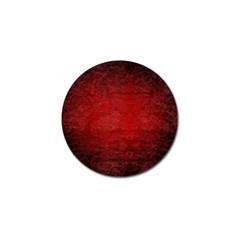 Red Grunge Texture Black Gradient Golf Ball Marker