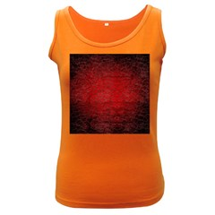 Red Grunge Texture Black Gradient Women s Dark Tank Top