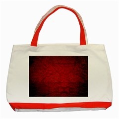 Red Grunge Texture Black Gradient Classic Tote Bag (red)