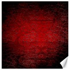 Red Grunge Texture Black Gradient Canvas 12  X 12