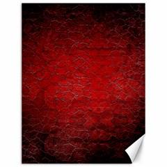 Red Grunge Texture Black Gradient Canvas 12  X 16