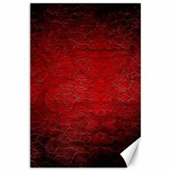 Red Grunge Texture Black Gradient Canvas 24  X 36