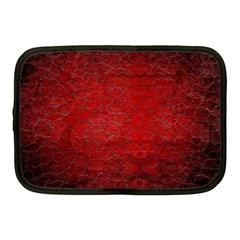 Red Grunge Texture Black Gradient Netbook Case (medium)
