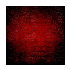 Red Grunge Texture Black Gradient Face Towel